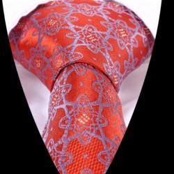 Hedvábná kravata oranžová LD0493