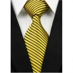 Hedvábná kravata žlutá NT0243