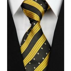Hedvábná kravata žlutá NT0148