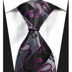Kašmírová hedvábná kravata černá NT0333