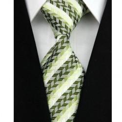 Hedvábná kravata zelená NT0038