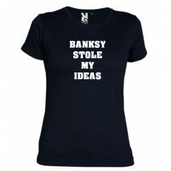 Tričko Banksy stole mi ideas dámské