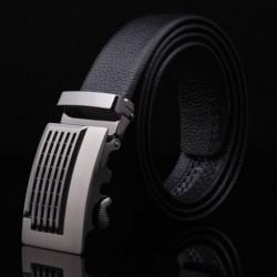Pánský kožený pásek černý s automatickou přezkou
