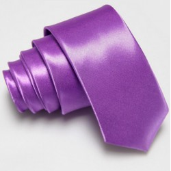Úzká SLIM kravata fialová