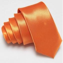 Úzká SLIM kravata oranžová