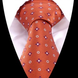 Hedvábná kravata oranžová LD0480
