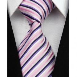 Hedvábná kravata růžová NT0071
