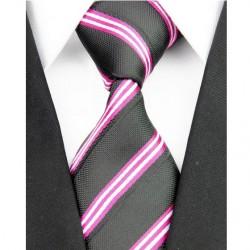 Hedvábná kravata černá NT0188