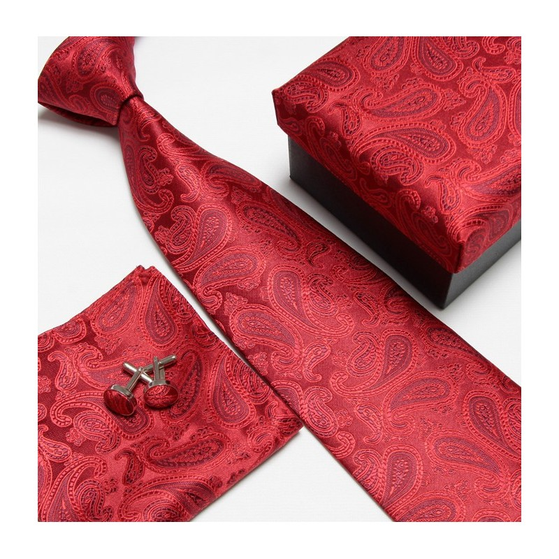 83fb9b00ad2 Dárkový set červená kravata