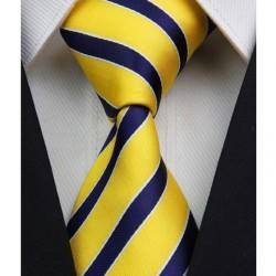 Hedvábná kravata žlutá NT0064