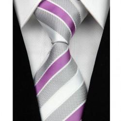 Hedvábná kravata růžová NT0054