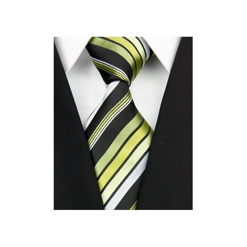 48adf39e15b Hedvábná kravata zelená NT0137 - Wemay