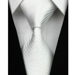Hodvábna kravata bílá NT0019