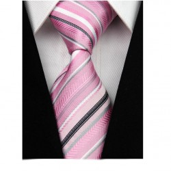 Hedvábná kravata růžová NT0043