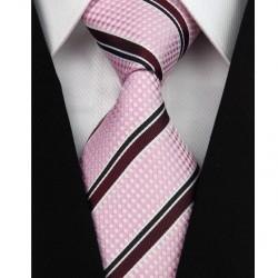 Hedvábná kravata růžová NT0111