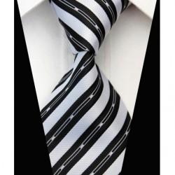 Hedvábná kravata černá NT0579