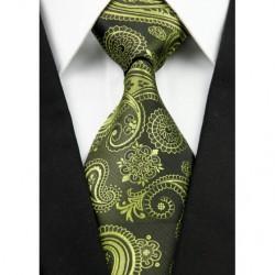 Kašmírová hedvábná kravata zelená NT0214