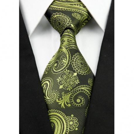 596f3133442 Kašmírová hedvábná kravata zelená NT0214 - Wemay