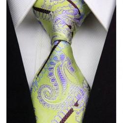 Kašmírová hedvábná kravata zelená NT0335