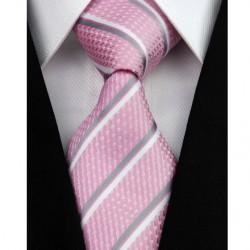 Hedvábná kravata růžová NT0194