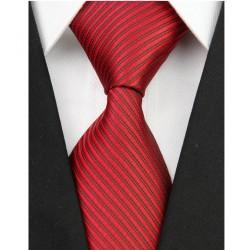 Hedvábná kravata červená NT0093