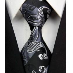 Kašmírová hedvábná kravata černá NT0395