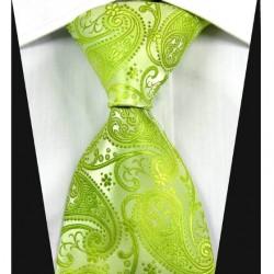 Hedvábná kravata kašmírová zelená NT0344