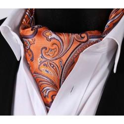 Pánský kravatový šátek Ascot oranžový