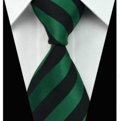 Hodvábna kravata čierna NT0017