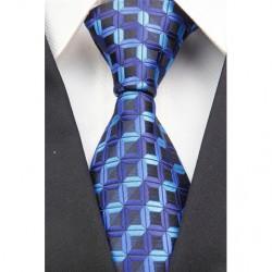 Hedvábná kravata modrá NT0025