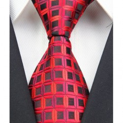 Hodvábna kravata červená NT0027