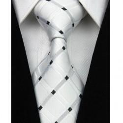 Hodvábna kravata biela NT0029