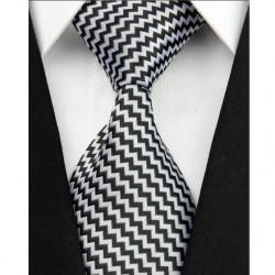 Hedvábná kravata bílá NT0041