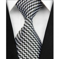 Hodvábna kravata biela NT0041