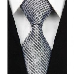 Hodvábna kravata biela NT0042