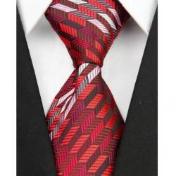 Hodvábna kravata červená NT0044
