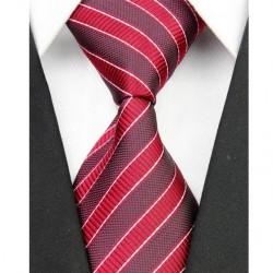 Hodvábna kravata červená NT0046