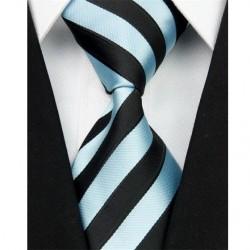 Hodvábna kravata čierna NT0050