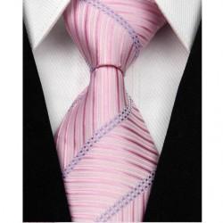Hedvábná kravata růžová NT0055