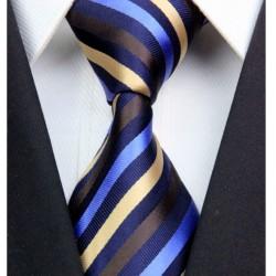 Hedvábná kravata černá NT0312