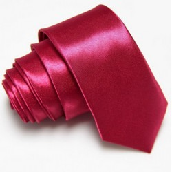 Úzká SLIM kravata vínová