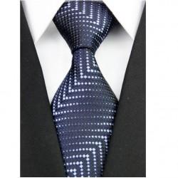 Hedvábná kravata černá NT0197