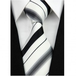 Hedvábná kravata bílá NT0207