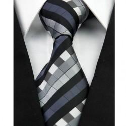 Hedvábná kravata černá NT0228