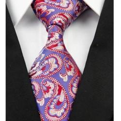 Hedvábná kašmírová kravata modrá NT0217