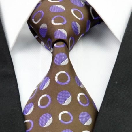 918e4508c11 Hedvábná kravata hnědá NT0266 - Wemay
