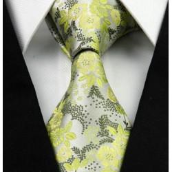 Hedvábná kravata zelená NT0260