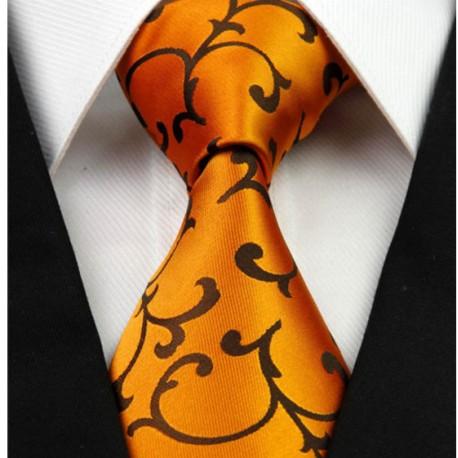 ac558d5383f Hedvábná kravata oranžová NT0261 - Wemay