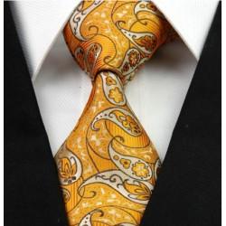 Hedvábná kravata oranžová NT0238