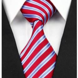 Hedvábná kravata červená NT0240
